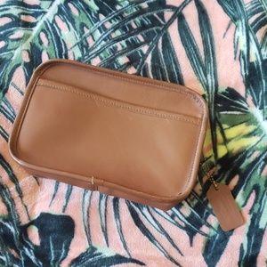 COACH Vintage Tan Cosmetic Makeup Pouch Bag